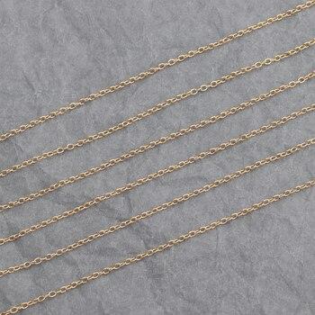 Sanying C65, accesorios de joyería, chapado en oro de 18k, cadena de cobre, protección del medio ambiente, fabricación de joyas, collar de cadena diy, 3 m/lote
