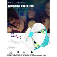 Bluetooth 4.2 Wireless Speaker Charge 5 Hours Playtime Waterproof with 7 Colors LED Night Light