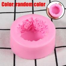 Круглый Цветок розы Силиконовые формы для мыла многофункциональные формы для свечей Торт Конфеты выпечки Плесень DIY ручной работы ремесло