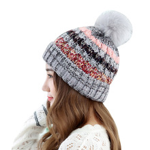 korean style fashion winter hats knitted caps mujer invierno beanies for ladies women pom-pom warm gorro