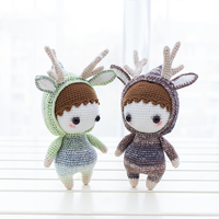 2019 cute 100% hand knitted crochet wool rainbow cat doll children's best gift toy accessories (finished products)