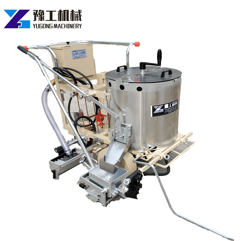110 Kg Capacity Manual Thermoplastic Hot Melt Line Road Marking Machine Parking Line YG-360 Glass Bead Container