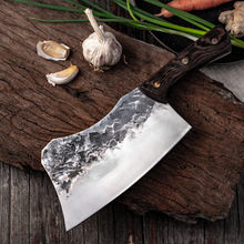 Handmade Kitchen Knife Forged Steel Chinese Meat Cleaver Vegetable Chopper Cutting Tool