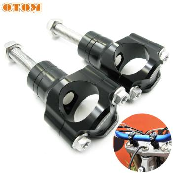 OTOM Motorcycle Handlebar Clamp CNC Aluminum Alloy Bar Clamps 28mm or 1 1/8 For Suzuki Yamaha BMW Honda KTM CRF HandleBar Riser 22mm 28mm motorcycle handlebar riser handle bar riser adapter stem riser 7 8 1 1 8 fat bar clamp for yamaha r1 r3 r6 for bmw