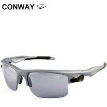 Conway gafas de sol deportivas cuadradas retro, lentes de sol deportivas con diseño de espejo de marca, para exteriores, antideslumbrantes, máscara táctica para los ojos 9102