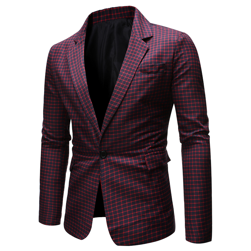 Men's Casual Suit Slim Fit One Button Suits Wedding Suit Plus Size Blazer