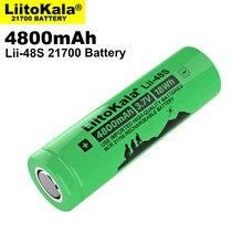 LiitoKala Lii-48S 3.7V 21700 4800mAh li-lon batterie 9.6A puissance 2C taux décharge ternaire lithium batteries bricolage vélo électrique