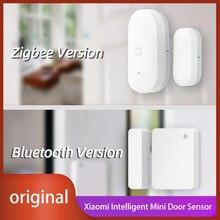 Xiaomi Mijia Aqara Zigbee fonksiyonu akıllı Mini kapı pencere sensörü akıllı ev otomatik kontrol kablosuz anahtarı orijinal