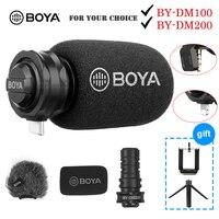 BOYA por DM100 DM200 A7H Digital micrófono de condensador micrófono para iPhone Samsung tipo C teléfonos Android iPad iPod 3,5mm