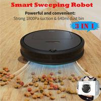 Neueste Ankunft Automatische Smart Roboter USB Stille Staubsauger Robotic Boden Sweep Mop Besen