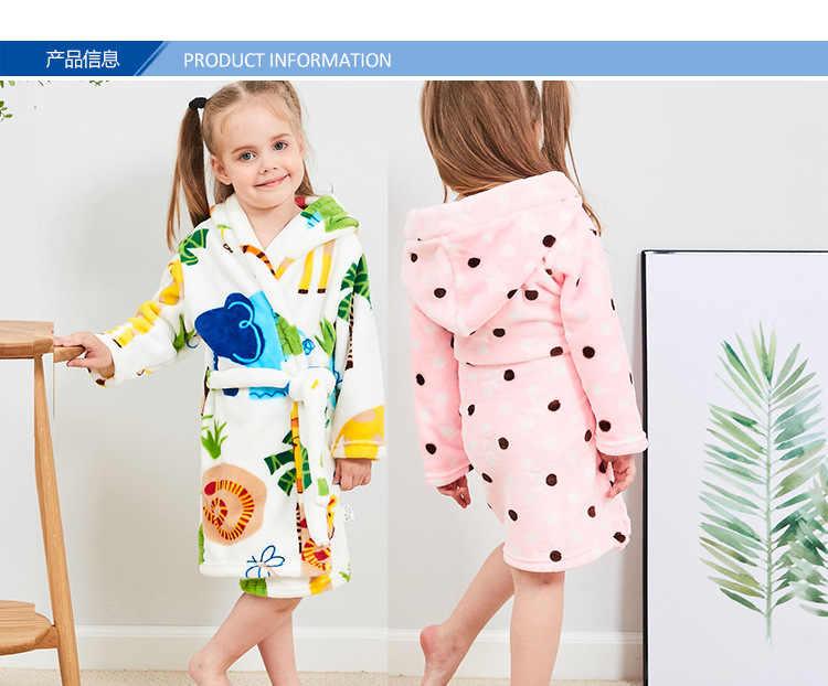 Pijamas para niños y niñas bata de noche para niños bata de franela para bebés bata de baño con capucha de manga larga bata de baño para niños Animal encantador de dibujos animados