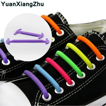 16pcs/set Silicone No Tie Shoelaces Round Elastic Shoe laces Best in Sports Fan Shoelaces for Kids and Adults Rubber Lazy Laces 16pc set no tie shoelaces elastic silicone shoe laces rubber laces lazy shoelaces for all sneakers boots casual shoes 13 colors