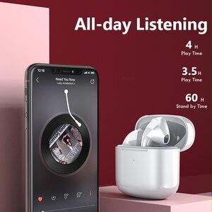 Image 3 - Mini fones de ouvido bluetooth com controle toque microfone sem fio fones esportes música sem fio 24h play time