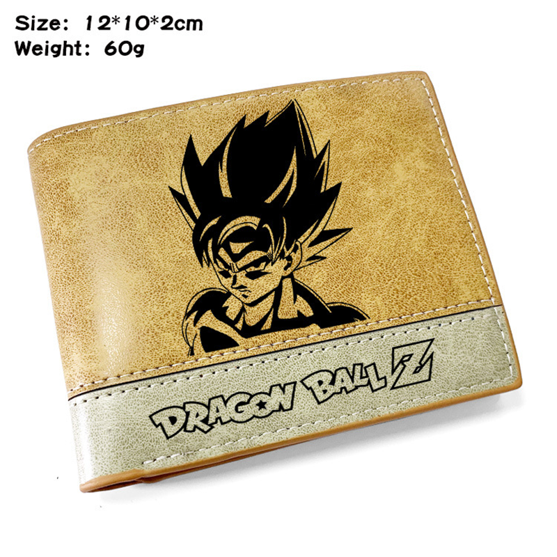 DRAGON BALL Men Wallet Leather Wallet Cartoon Wallet Slim Wallets Men Pu Leather Bifold Short Credit Holder Coin Purse Male