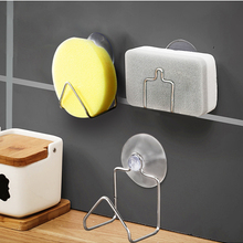 Shelf Sink-Rack Sponge-Holder Dish-Drainer Suction-Cup Kitchen-Accessories Cleaning-Cloth