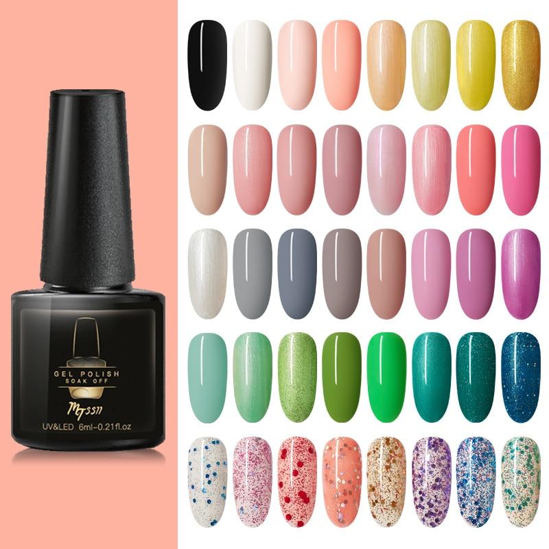 Mtssii Bright Sweet Color Nail Polish Glitter Gel UV Nail Gel Soak Off Nail Art Led Nail Gel Pink Painting Sugar Nail Polish