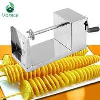 Espiral batata slicer twister torcido tornado batata cortador batatas fritas máquina de corte chips cozinha diy cozinhar ferramentas