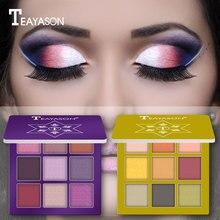 9 цветов блестящие тени для макияжа Pallete матовые тени для век Палитра мерцающие водонепроницаемые тени для век порошок пигмент косметика TSLM1