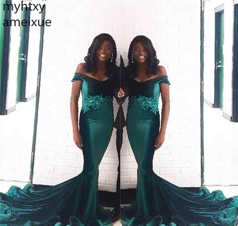 2019 חדש חם אפריקאי שחור בנות חמדנות סקסי לנשף אירוע שמלת בת ים ללבוש ערב מסיבת שמלה בתוספת גודל תפור לפי מידה שמלה אלגנטי