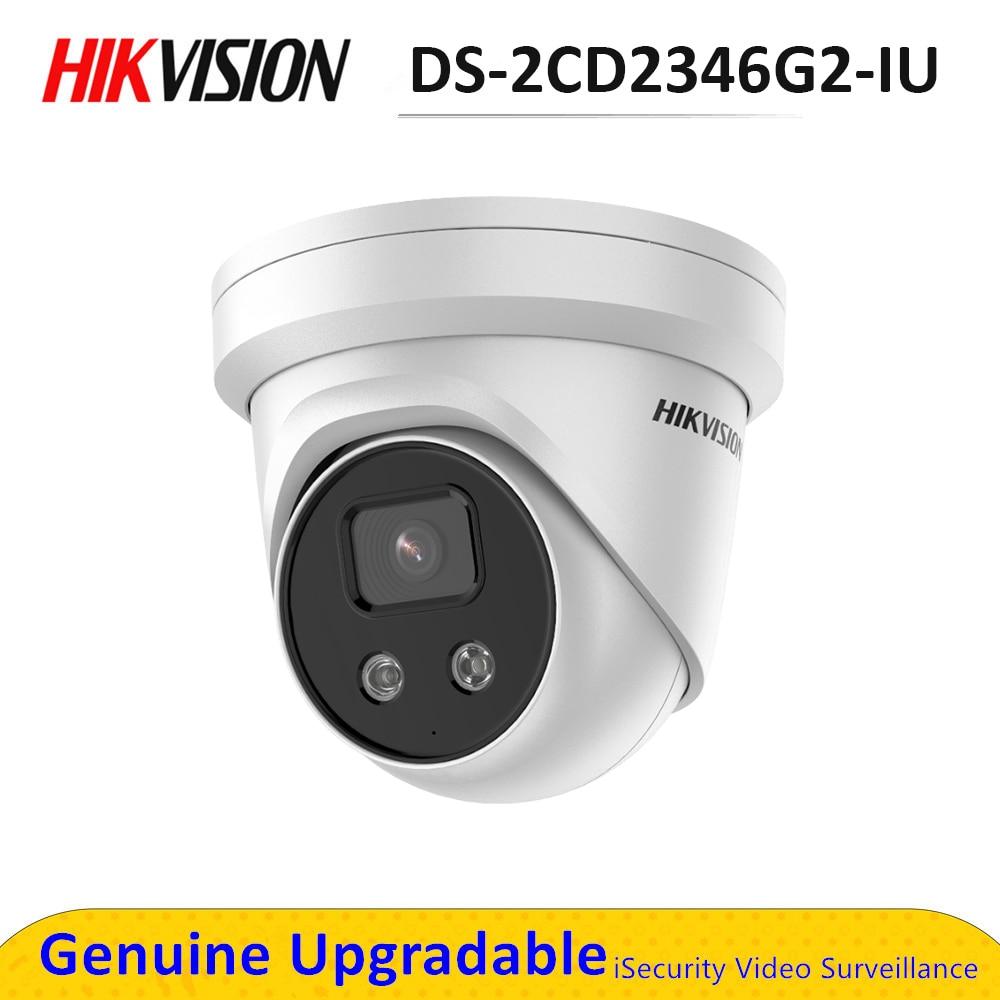 Hik – caméra de sécurité AcuSense, réseau à tourelle fixe, IPC POE, Microphone intégré, DarkFighter, H.265 + DS-2CD2346G2-IU