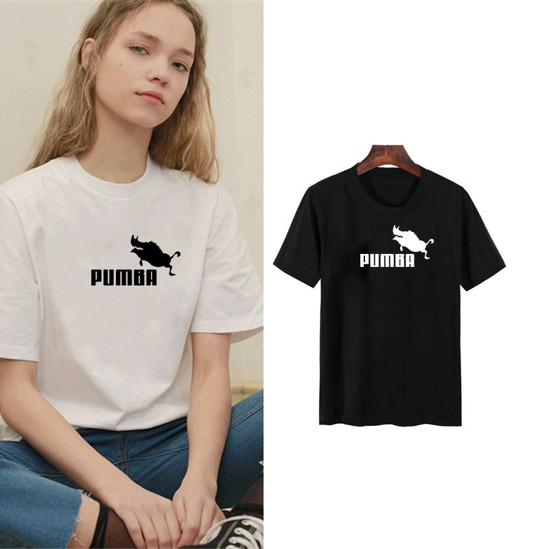 Women Clothes 2019 Harajuku Pumba Printed  T-shirts Casual Summer Short Sleeve Short Sleeve T Shirt Women Tops Plus Size