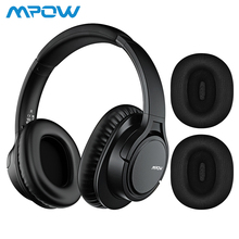 Mpow H7 Plus Bluetooth Headphone Replaceable Earmuffs Bass Sound Stereo Wireless with Mic Headset for Cellphone Tablet