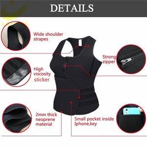 Image 2 - LAZAWG Vrouwen Sauna Zweet Neopreen Top Taille Trainer Body Shaper Hot Thermo Vest Afslanken Shapewear Shirt Zweet Sport Shirt
