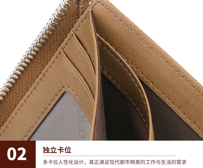 Williampolo completo grão carteira de couro curto