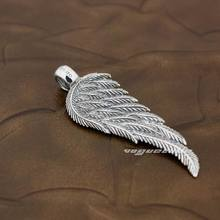 925 Sterling Silver Angel Bird Wing Feather 2-Side Fashion Pendant 8X018