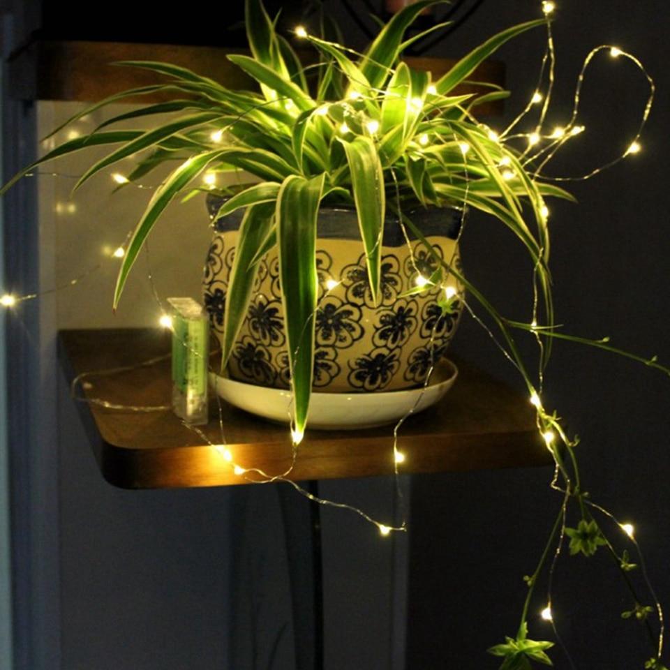 Guirlande de noël, guirlande de noël, lampe de décoration intérieure pour chambre à coucher et mariage, LED cordes lumineuses, 1-10M, fil de cuivre 4