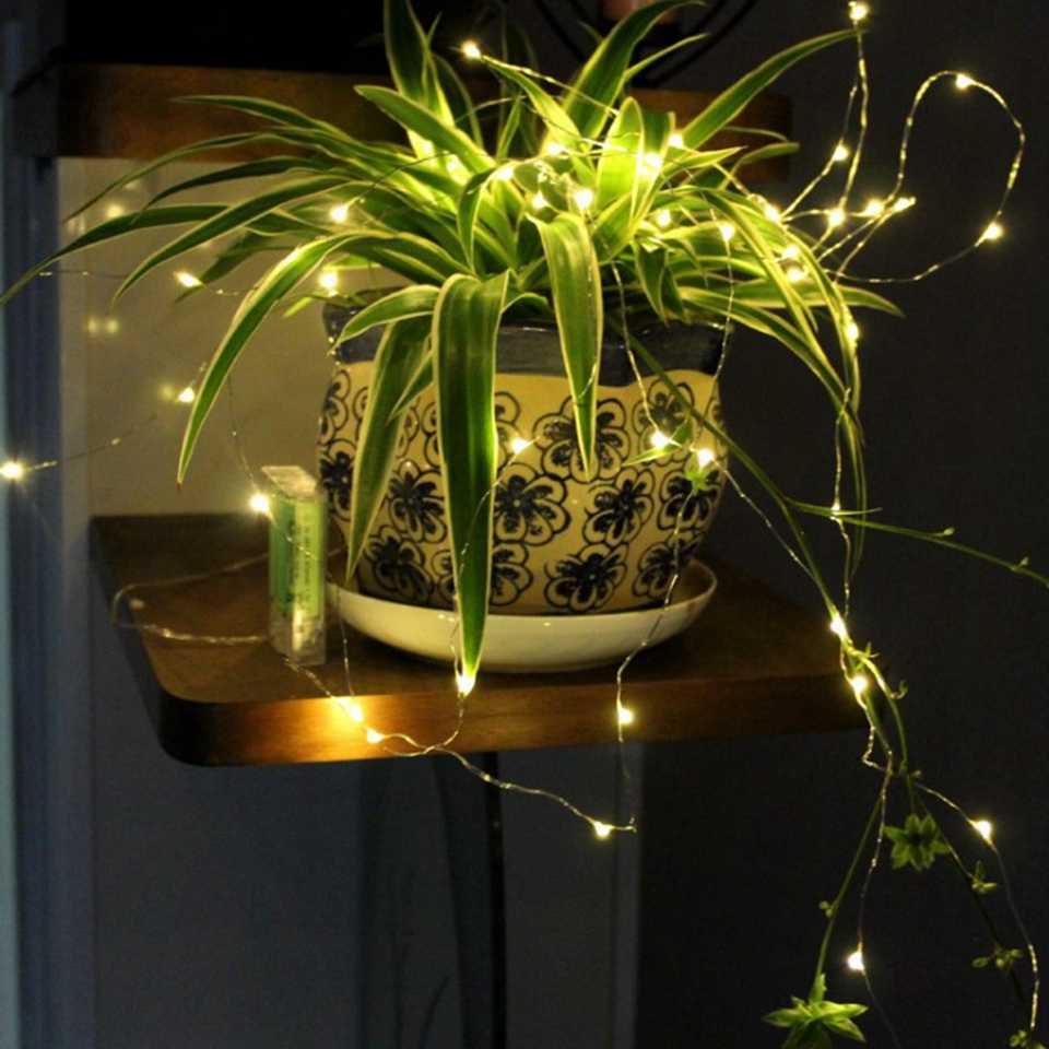 1-10M LED 문자열 조명 구리 와이어 요정 조명 밤 빛 크리스마스 갈 랜드 룸 침실 실내 웨딩 장식 램프