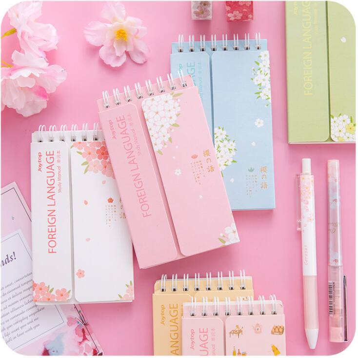 1PC Kawaii Foreign English Words Language Vocabulary Notebook Study Writing Reciting Book Planner Escolar Papelaria Stationery