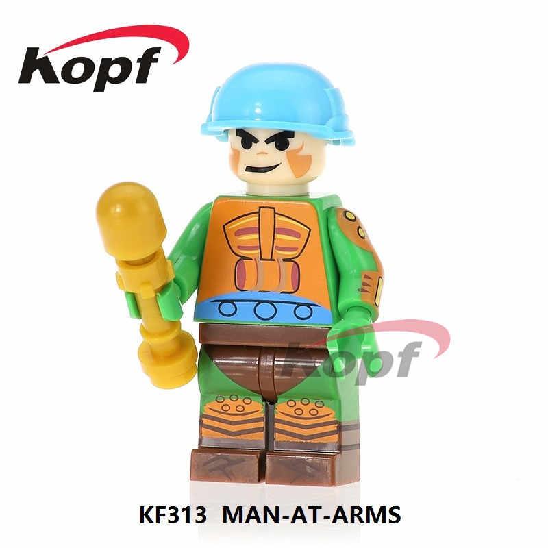 Single Dijual Blok Bangunan Angka Faker HE-Man Hemal Nodes Dia Pria Ram-Man Man-AT-Arms trj-Klops Angka Mainan Anak Anak KF8010