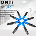ONTi 50-400pcs Embedded SC UPC Fiber Optic Fast Connector FTTH Single Mode Optical Quick Connector SC Adapter Field Assembly