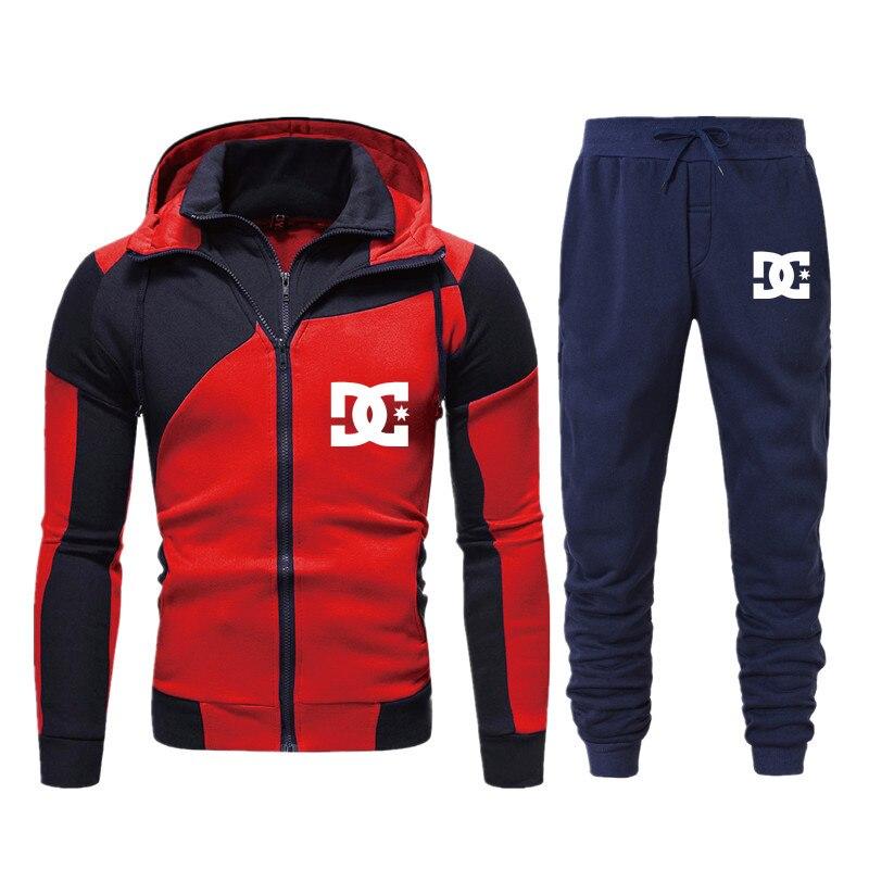 Новинка 2021, мужская и женская спортивная одежда для бега DC, толстовка на молнии, брюки, повседневная спортивная одежда, мужской спортивный к...