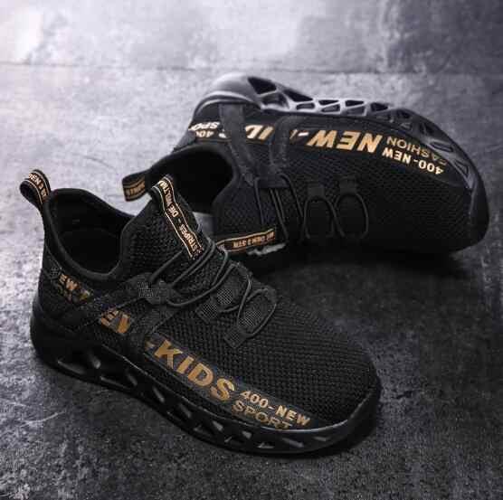 Moda niños zapatos casuales bebé niños niñas botas Martin zapatos para correr niños marca deportiva zapatos blancos niño zapatillas con puntera con forma de concha