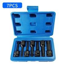7pc Impact Hex Bit Socket Set H4 H5 H6 H7 H8 H10 H12 Allen Keys Screwdriver Bit Socket Wrench Tools 3/8