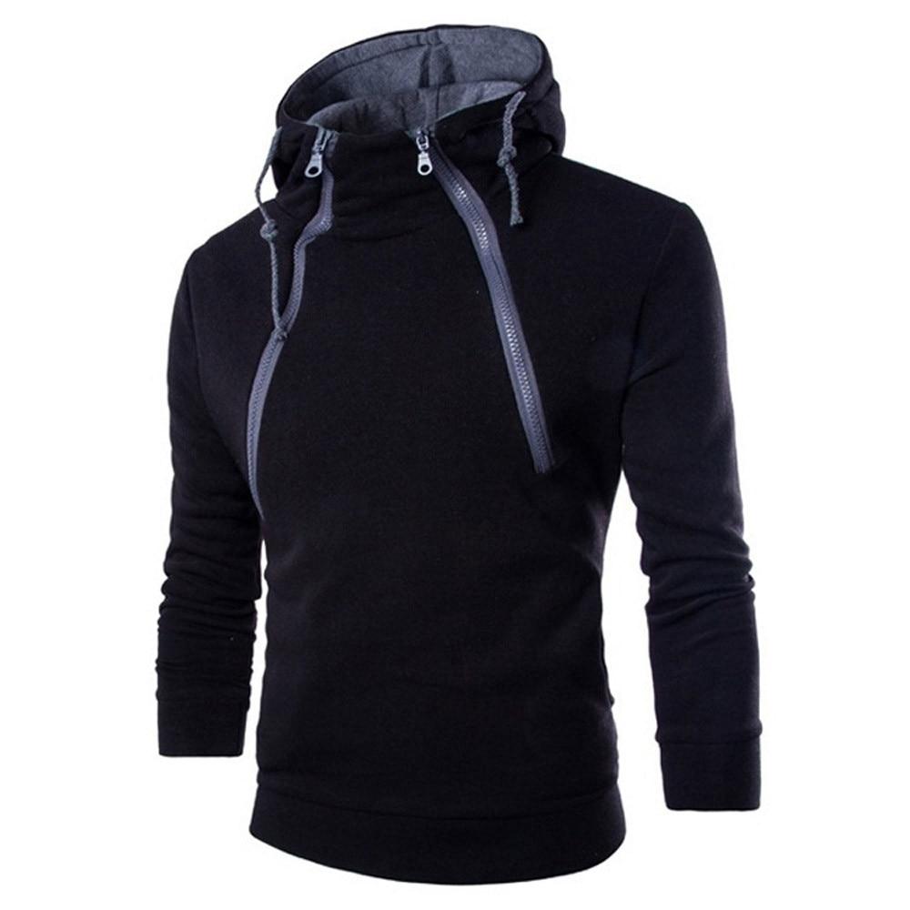 Мужская одежда, мужская толстовка с капюшоном на молнии в стиле пэчворк, весенне осенняя повседневная спортивная блузка с длинным рукавом и круглым вырезом 3XL Толстовки и свитшоты    АлиЭкспресс