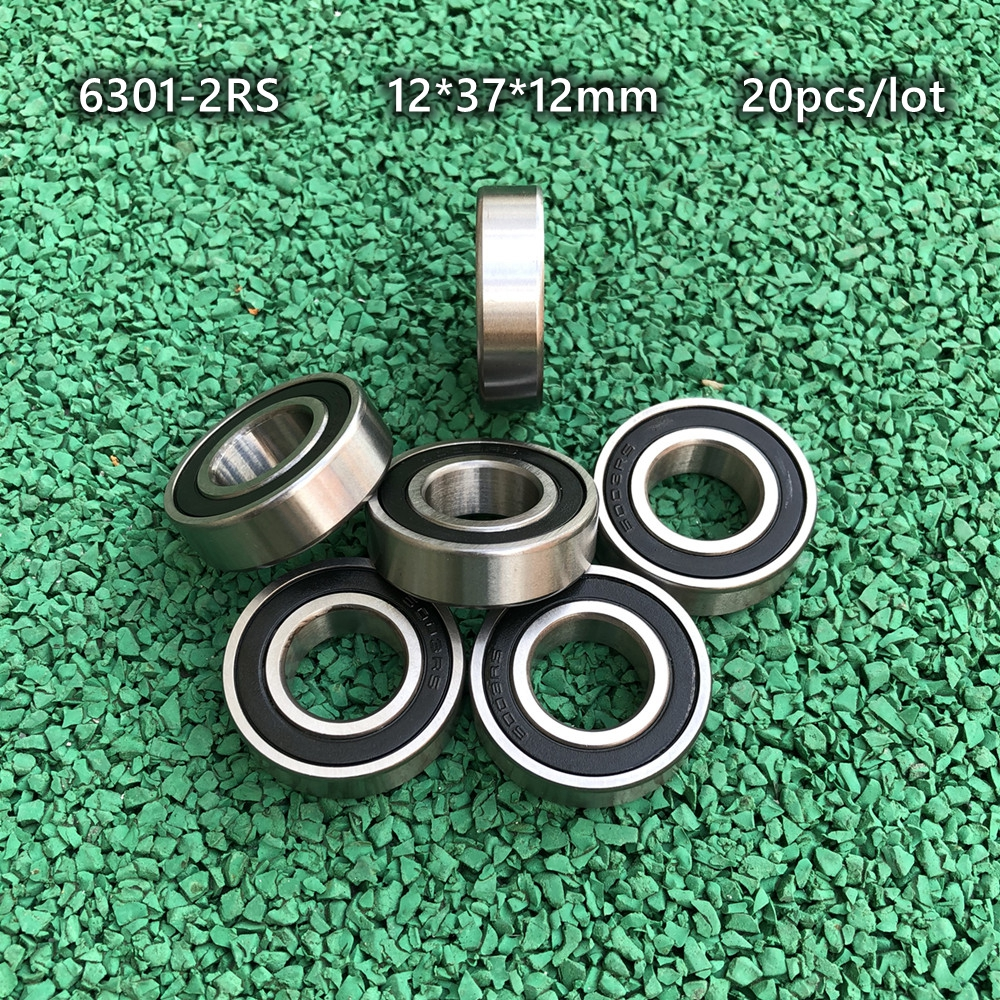 12mm*37mm*12mm 1PCS 6301-2RS 6304RS Deep Groove Rubber Shielded Ball Bearing