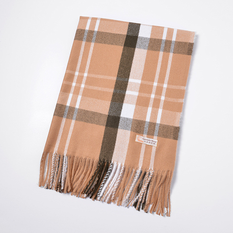 70*200CM 2019 Autumn Winter Female Wool Plaid Scarf Long Shawl Wrap Blanket Warm Tippet Women Cashmere Scarves Wide Lattices