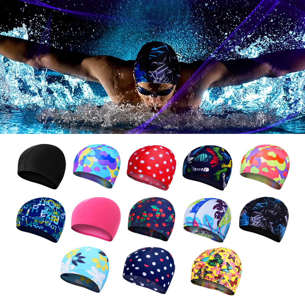 Swimming-Cap Swim-Pool-Hat Hair-Sports Silicone-Rubber Elastic Waterproof Protect-Ears-Long