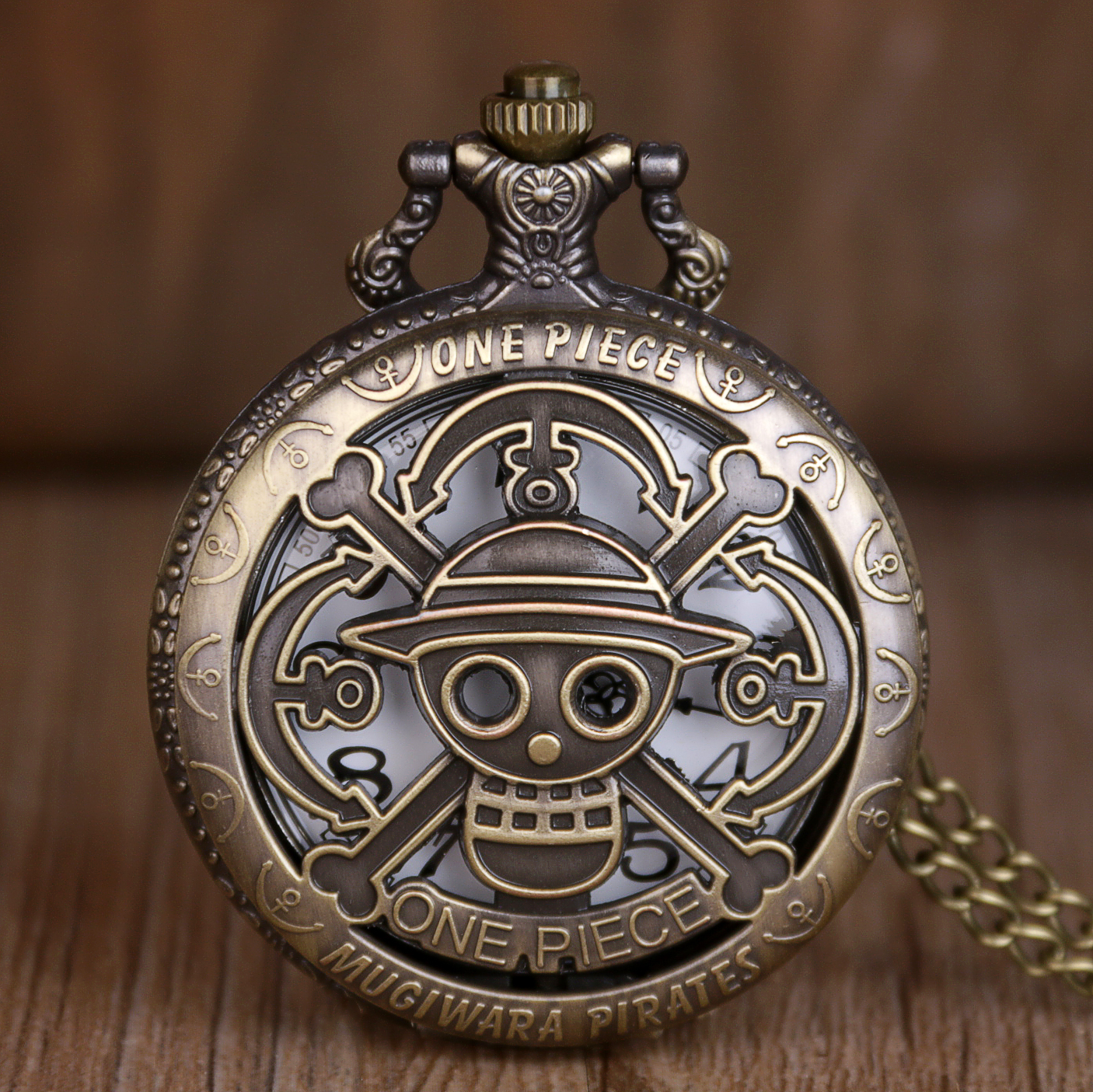 Retro Steampunk One Piece BronzeFob Necklace Watches Bronze Classic Vintage Quartz Necklace Fob Watches Gifts