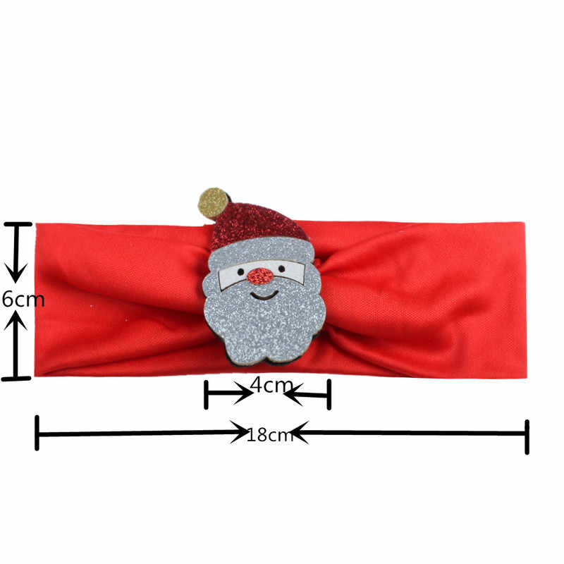 新 1pc ヘッドバンドクリスマスツリーサンタクロース帽子ヘアバンドヘッドピースアクセサリーファッションホット子供キッズベビー女の子 XYR