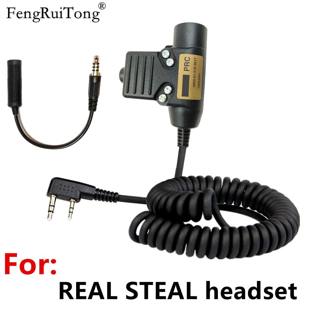 Tactics U94 PTT AMPLIFIED version for REAL STEAL headset ?for baofeng kenwood puxing woxun Nexus 3M comtacs/MSA headset U94 PTT