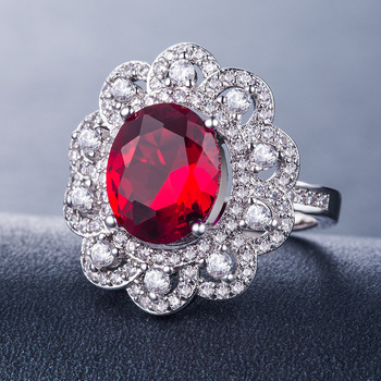 Anillo de diamantes anillos de mujer anillo de oro rosa de Pomelo anillo de rubí de circonio blanco anillo de zafiro anillo de piedra de cristal de granate de molissanita B1145