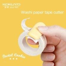 Dispenser Organizer Cutter-Tool Storage Washi-Tape Office-Supplies School Kawaii Candy-Colors