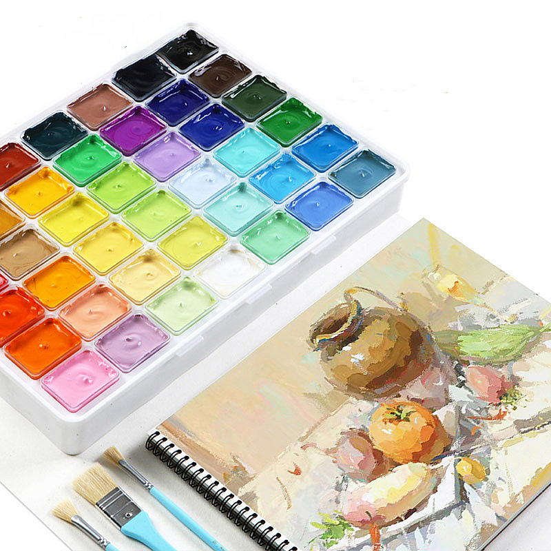 30ml*40 colors Professional Gouache Watercolor Paints With tools Unique Jelly Cup Design Gouache Paint For Artists Students