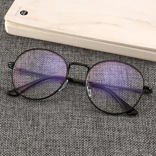Black Glasses Mobile Phone Glasses Radiation Blue Light Men's Flat Mirror Computer Glasses Anti Blue Ray Glasses Clear Large 6