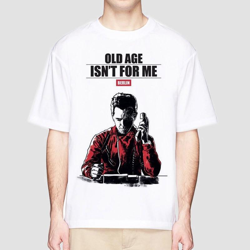 Camiseta de La Casa de Papel Dinheiro Assalto T Série de TV T shirt homens Projeto Engraçado Camisetas Homens de Manga Curta casa de Papel T-Shirt