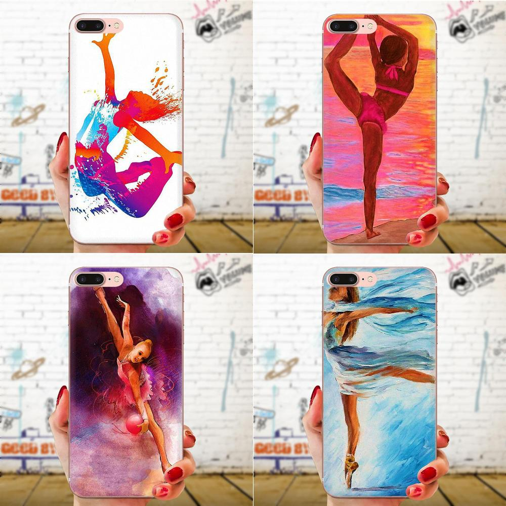 For Huawei Honor 4C 5A 5C 5X 6 6A 6X 7 7A 7C 7X 8 8C 8S 9 10 10i 20 20i Lite Pro TPU Covers Case Love <font><b>Gymnastics</b></font> Oil Painting image